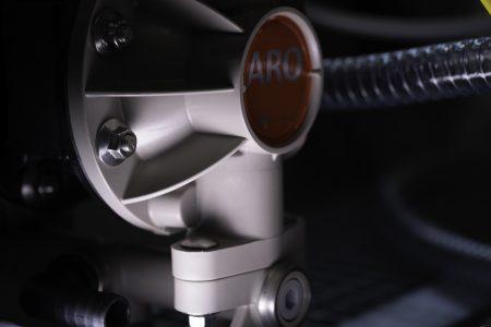Pompa pneumatica utilizzata nel sistema automatico di diluizione colla progettato da Movingfluid