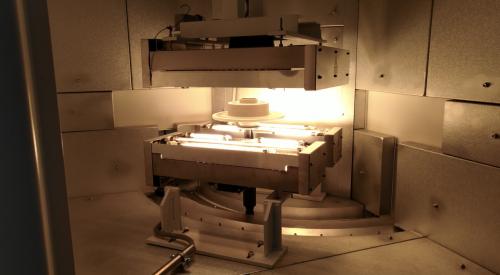 Dettaglio forno verniciatura industriale – Cottura dischi - Movingfluid