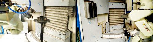 Robot utilizzato per verniciatura industriale al lavoro. Verniciatura ricambi OEM - Movingfluid